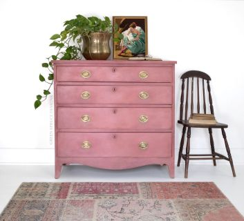 Pink Antique Dresser