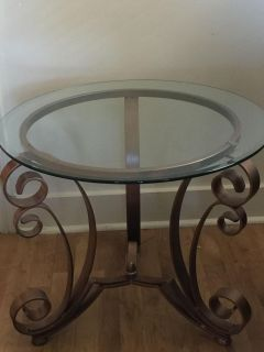 Wrought Iron End Table