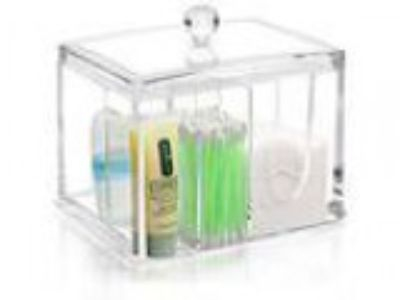 My Bathroom Canister Deluxe All-In-One Clear Acrylic Canister w