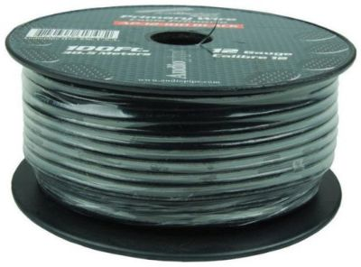 Sell 12 Gauge 100ft Primary Wire Black Audiopipe Ap12100bk Wire motorcycle in Hicksville, Ohio, United States, for US $20.05