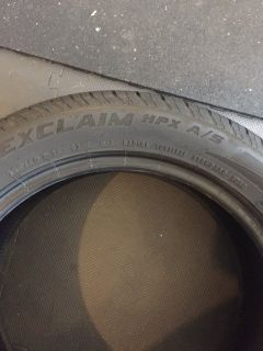 Tires for sale! General Exclaim HPX A/S 235/50 R18