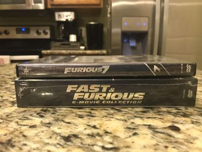 Fast and Furious box set (never opened) and Furious 7 (Like new)