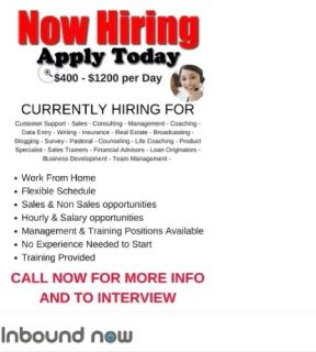 Account representative $400 per day
