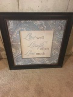 Framed Live, Laugh, Love picture