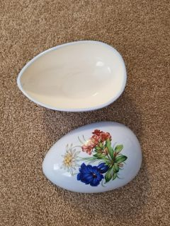 Hand Painted Glass Dish