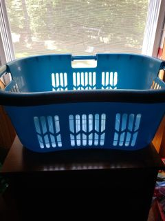 Curved laundry baskets -1 left in pink
