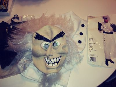 Mad Scientist Halloween Costume. Men Small woman large. Bonus mask