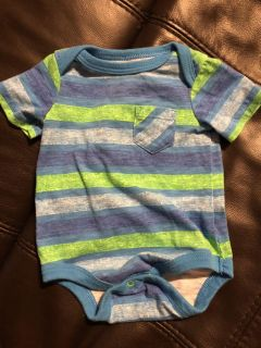 Cat & Jack Cool Stripe Onesie Playsuit. Size Newborn. Very Nice Condition