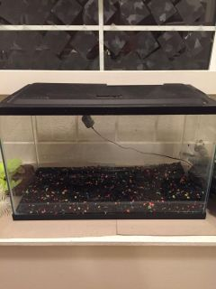 Glow fish 5.5 gallon fish tank with filter and lights