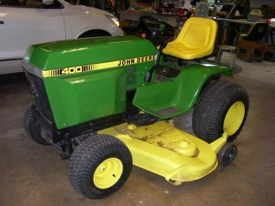 "john deere 400 lawn tractor with 60"" deck and 3 point hitch"