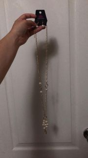 NWT pearl necklace & earring set!