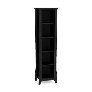 Nexera 5 shelf Bookcase, black in color