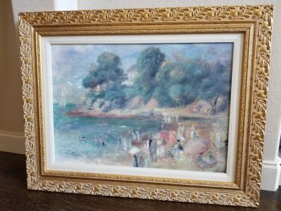 Renoir reproduction The Beach at Purnic, A classic, Large picture