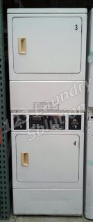 Coin Operated Speed Queen Commercial Stack Dryer Apt Size Card OPL SSGF09WJ White Finish Used