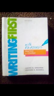 WRITING FIRST fifth edition With Readings practice in context