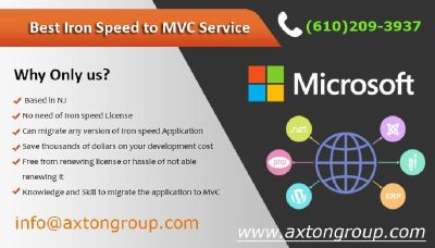 Best Iron Speed to MVC Converter Service--- www.axtongroup.com— Edison 08837 NJ