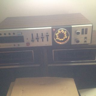 AM\FM receiver with 8 track recorder