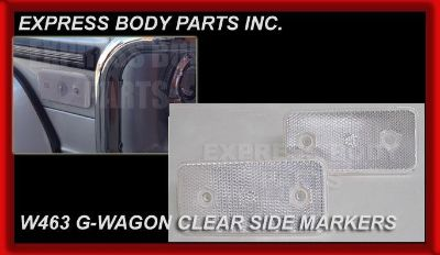 Buy CLEAR 1 PAIR MERCEDES W463 G-WAGON G500 G550 G55 G63 SIDE MARKERS REFLECTORS motorcycle in North Hollywood, California, US, for US $65.50