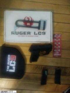 For Trade: Ruger lc9 w/crimson trace