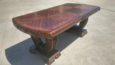 #2553 - Traditional Formal Dining Room Table ONLY - Brown
