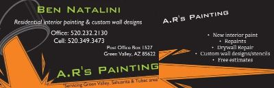 A.R's Painting-Interior paint and wall designs ((Green Valley/Sahuarita/Tubac/Rio Rico)