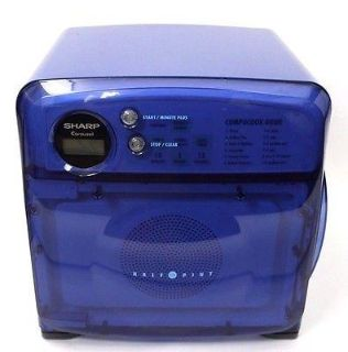 Blue Sharp Half Pint Microwave Works Great