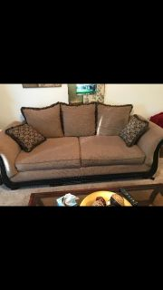 New couch small pillows not included