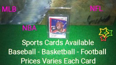 Sports Cards / Baseball - Basketball - Football