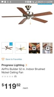 Ceiling fan and light kit