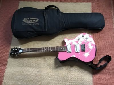 First Act Pink Electric Guitar with Soft Case