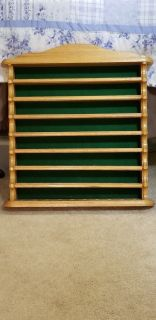 Oak Wood Golf Ball Display Wall Shelf - Holds 40 Golf Balls - A Great Gift for the Golfer