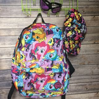 My little pony backpack / hat / sunglasses