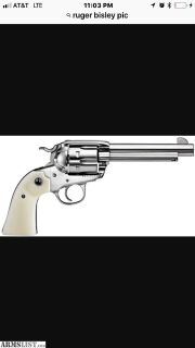 For Sale: Ruger New Vaquero Bisley .357