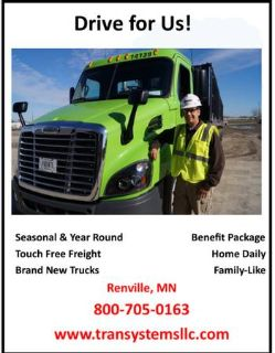 Class A Driver  WE WANT YOU (Renville, MN)