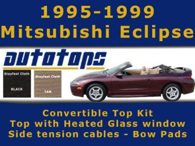 Purchase Eclipse Convertible Top with Heated Glass Window Kit | Bow Pads and side cables motorcycle in Shamokin, Pennsylvania, United States, for US $433.00