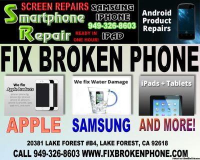 WE REPAIR AND FIX CELL PHONE SCREENS AND MORE!!
