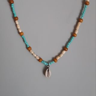 Unisex Surfer Necklace With Cowrie Shell Charm