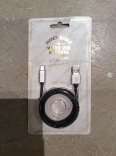 Brand New 3ft Micro USB or iPhone Cable