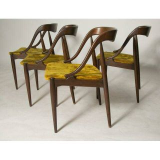 Set of johannes andersen danish dining chairs