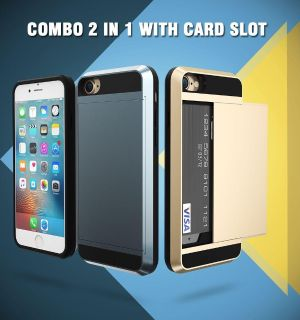 iPhone metal cover with gliding card holder