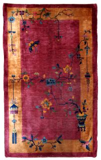 Handmade antique Art Deco Chinese rug, 1B630