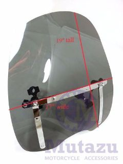 """Buy Universal Tinted windshield wind shield fit all cruisers with 7/8"""" 1"""" handle bar motorcycle in San Leandro, California, United States"""