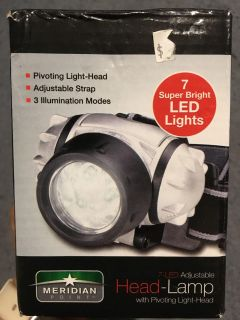 Silver meridian point 7 super bright LED lights retail $15