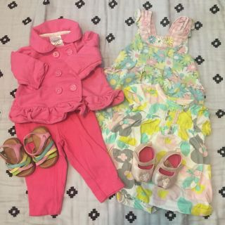 Baby girl mixed lot with shoes Poms