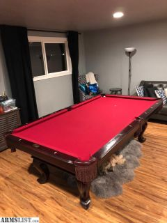 For Sale/Trade: DLT Billiards Table - Red with Dark Wood