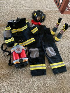 Firefighter kid costume size 4-6