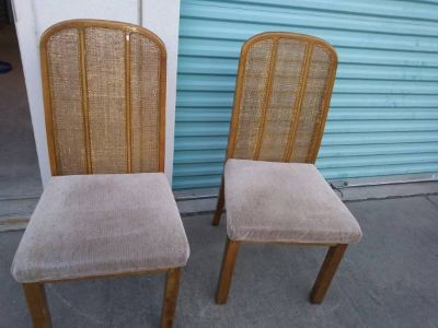 2 Cane Back or Cane Back Style Dining Chairs
