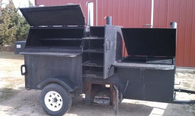 Smoker -- Kingfisher, custom made smoker and grill