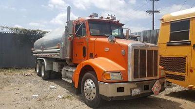 1998 Peterbilt 385 Fuel Tank Truck Miles: 306,222 Caterpillar Diesel Engine Air Brakes Salvage, Lien Paper Work