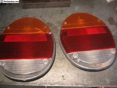 Flat tail lights